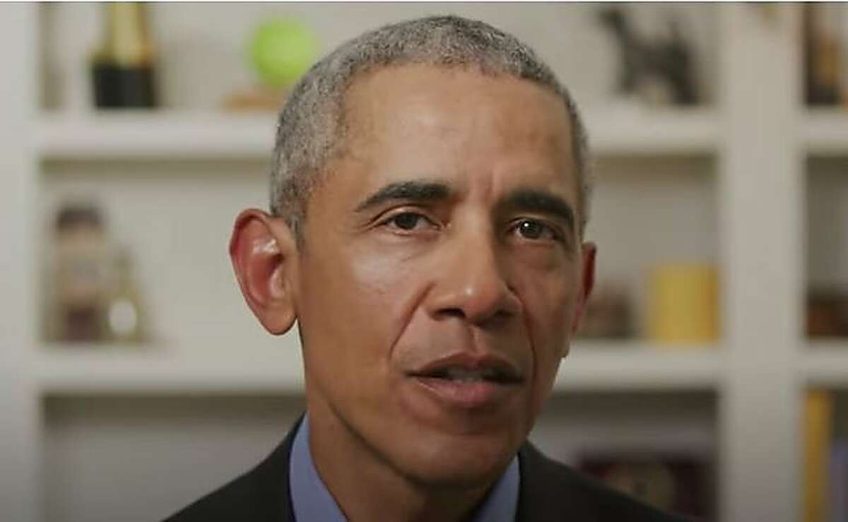 This screen grab from a video released by BidenForPresident shows former President Obama endorsing Joe Bidens White House bid through a video message on Tuesday, April 14, 2020. - Former President Barack Obama endorsed Joe Biden on April 14, 2020, in a video message in which he explains why he believes his former running mate is the candidate needed at this moment of crisis in America. (Photo by Olivier DOULIERY / BidenForPresident / AFP) / RESTRICTED TO EDITORIAL USE (Photo by OLIVIER DOULIERY/BidenForPresident/AFP via Getty Images)