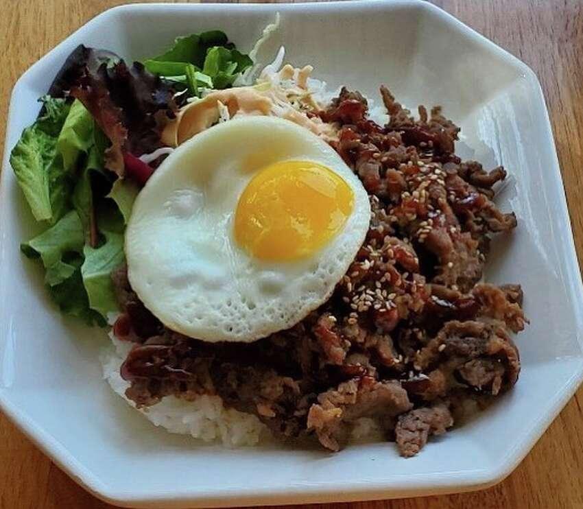 Bulgogi rice bowl from Son of Egg in Albany.