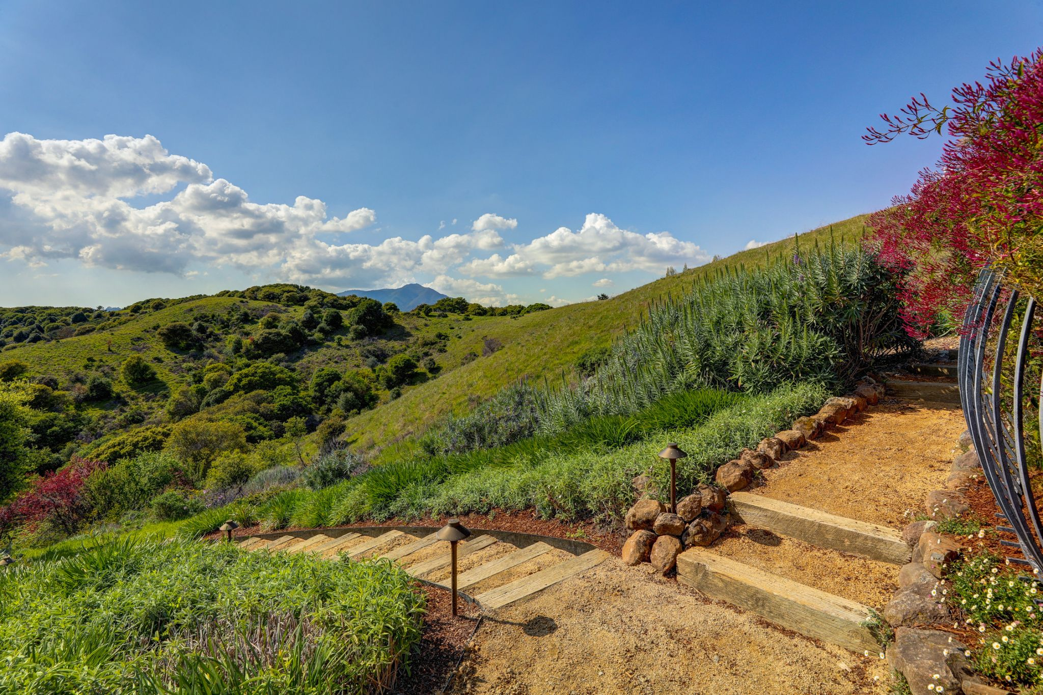 The iconic landscape and views of Marin County seem to be your only neighbors, but in fact the home isn't far from Ring Mountain, The Cove Shopping Center, or Hwy 101.