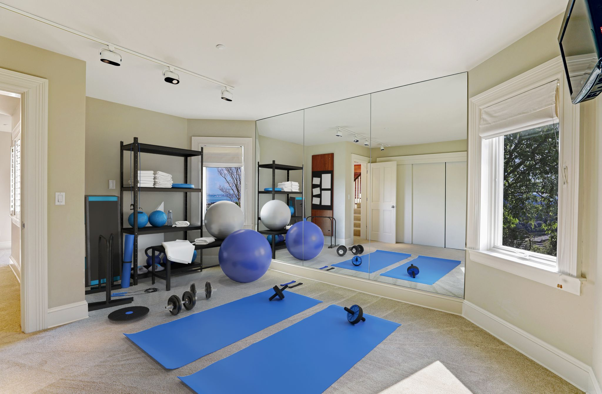 What home owned by a professional sports powerhouse would be complete without a gym?Alderson continues to be a local leader in major league baseball in his ongoing capacity with the A's.