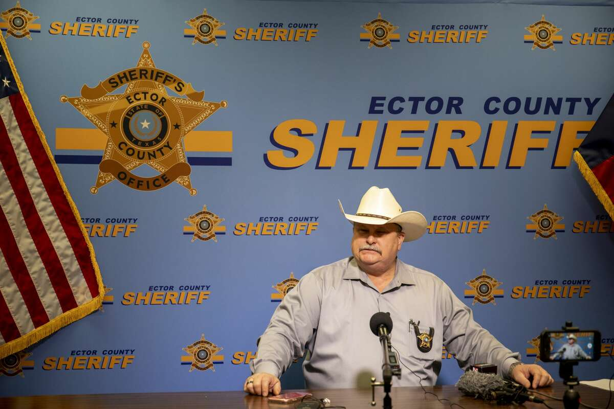 Ector County Sheriff Mike Griffis held a press conference Tuesday, May 5, 2020 about the arrests made at a bar in West Odessa on Monday. Jacy Lewis/Reporter-Telegram