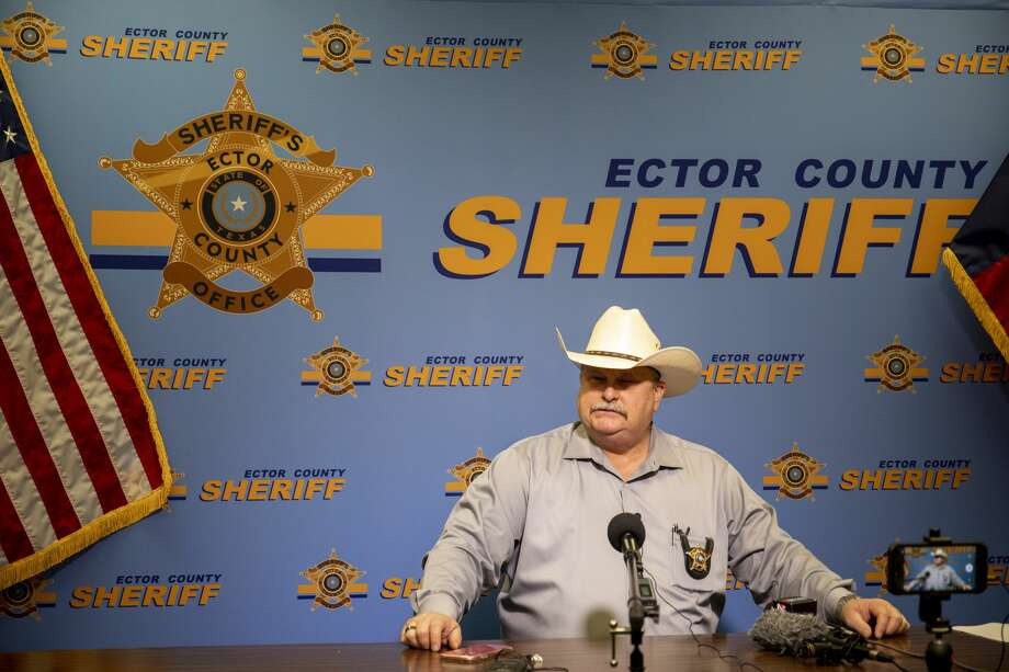 Ector County Sheriff Mike Griffis held a press conference Tuesday, May 5, 2020 about the arrests made at a bar in West Odessa on Monday. Jacy Lewis/Reporter-Telegram Photo: Jacy Lewis/Jacy Lewis/Reporter-Telegram