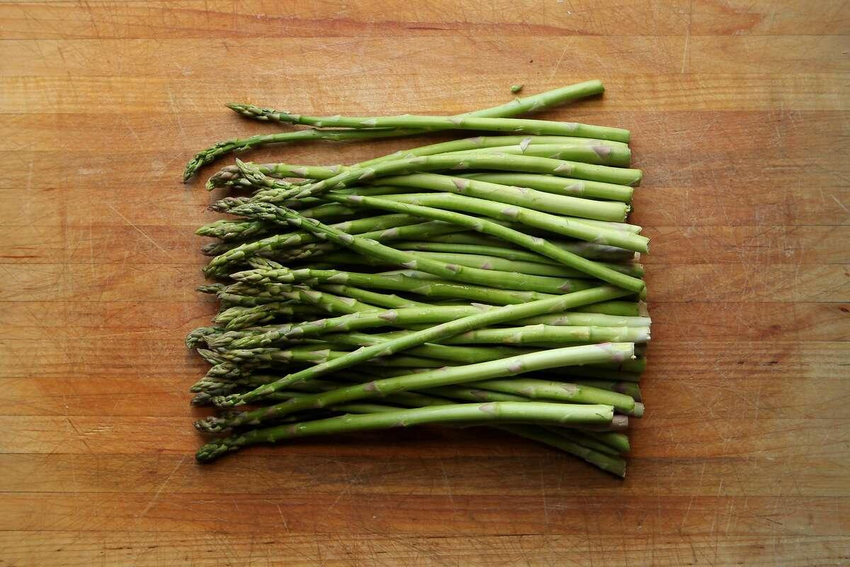 Asparagus, Friday, Feb. 20, 2015, in San Francisco, Calif.