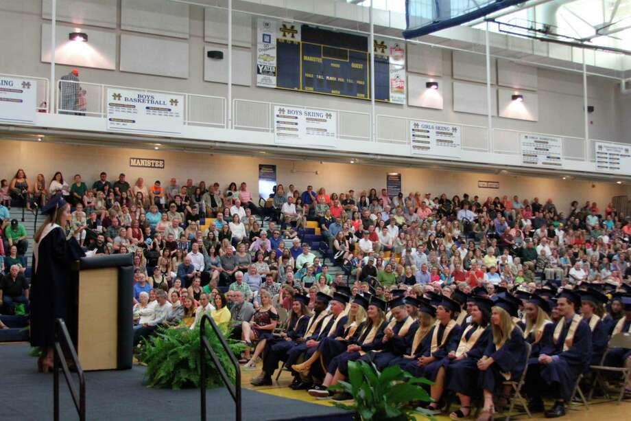 Due to the COVID-19 pandemic and social distancing guidelines high schools will not be holding traditional graduation ceremonies like the 2019 graduation at Manistee High School. The school will be holding a virtual graduation ceremony on May 23 with hopes of holding a ceremony that will bring all the graduates together either this summer or fall. (File photo)