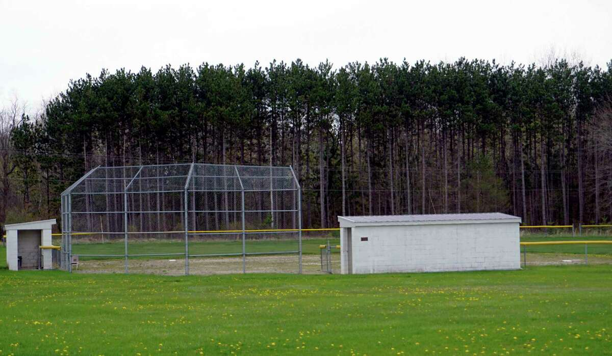 One of the diamonds behind Morley Stanwood High School rests dormant and will likely remain so until next spring. (Pioneer photo/Joe Judd)