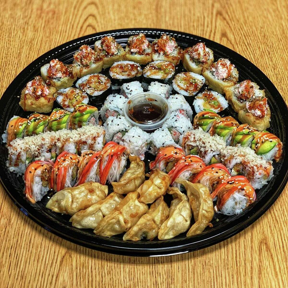 Nama Ramen, at 6565 Babcock Road, is selling sushi party trays. Though Texas restaurants were allowed to reopen for dine-in starting May 1, Nama decided to stick with the to-go model in the meantime. The restaurant has trays with a 20-piece Nama Roll and six-piece fried gyoza for $25 or a larger tray with six rolls and gyoza for $49.95. See the full detailshere.