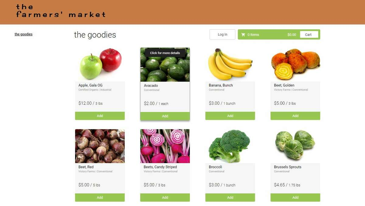 Little Red Organics has an online farmers market where customers can order items from the farm as well as other producers and then have the purchases delivered to their door over the weekend. It delivers to certain portions of Manistee as well as several other locations.