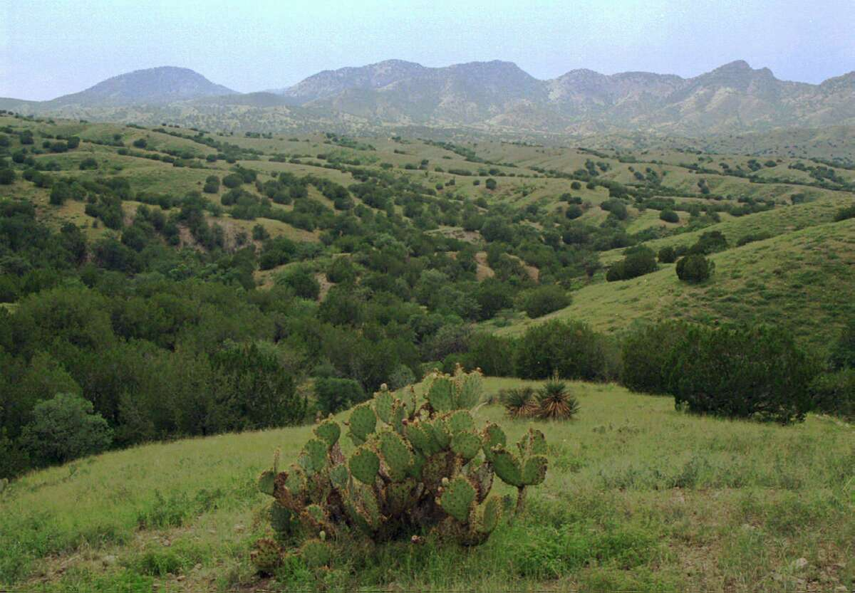 The rolling green hills of Coronado National Forest near Sonoita, Ariz., are seen just after a light rain on Tuesday, Aug. 20, 1996. (AP Photo/John Miller)