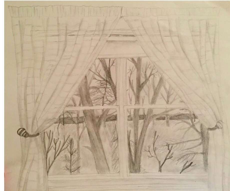 Taylor Myers drew the view from her window for one of her art assignments at home. (Submitted photo)