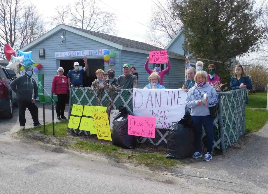 Residents welcomed Dan Hook back to Beulah after he spent five weeks at Munson Medical Center in Traverse City after being diagnosed and undergoing surgery for spinal cancer. (Courtesy photo)