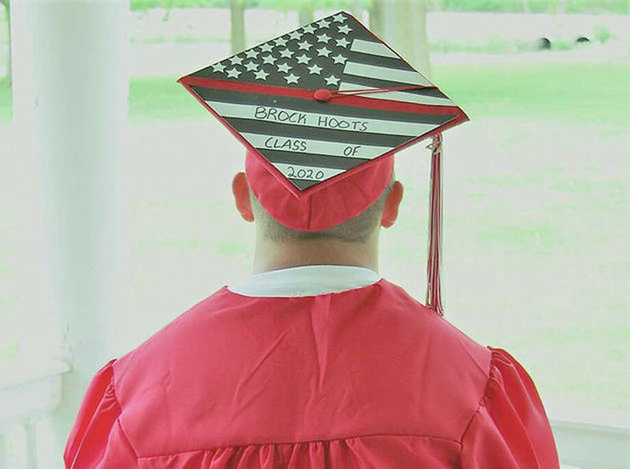 Jacksonville High School senior Brock Hoots shares a patriotic theme. Photo: Photo Provided