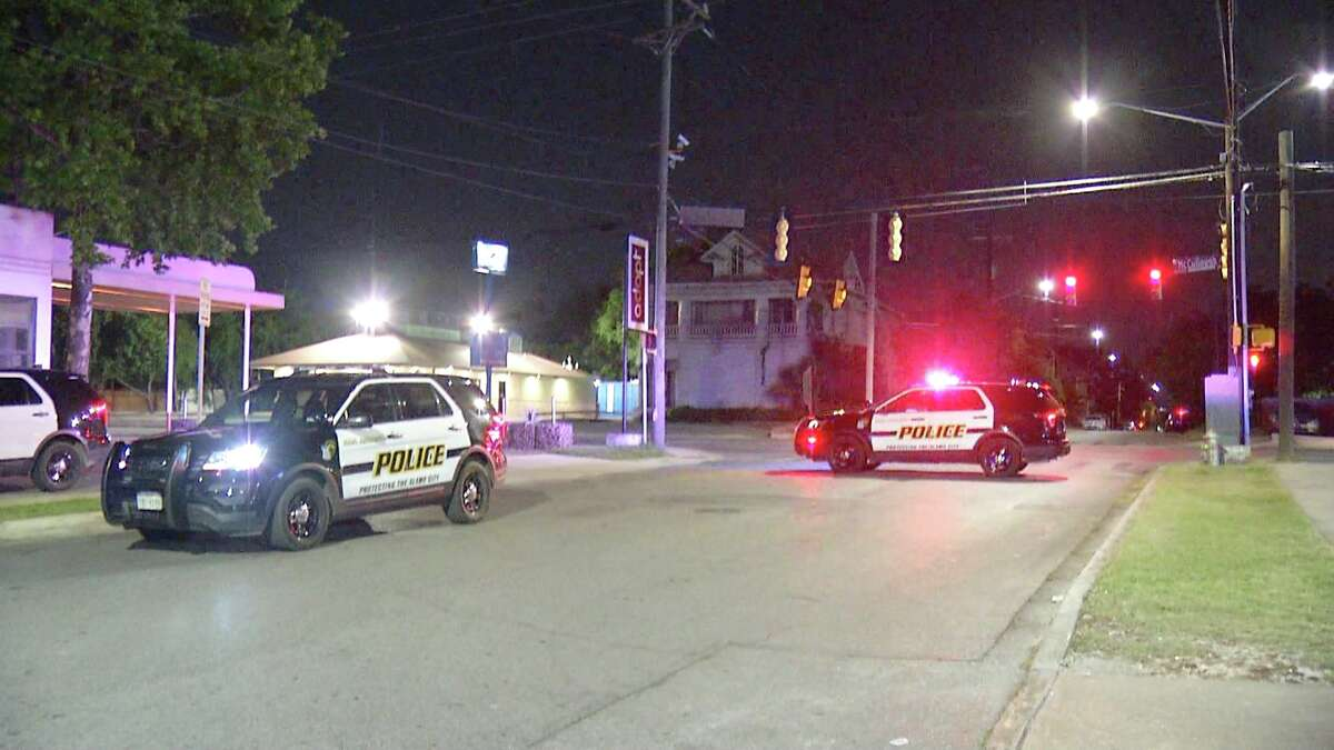 An Alamo Community College officer is in critical condition after suffering from a heart attack while responding to a shooting late Tuesday night.