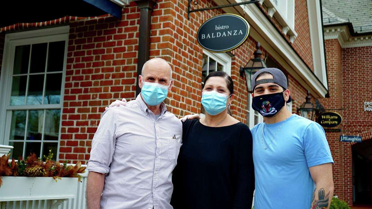 Bistro Baldanza owners: From left, Sandy Baldanza, Angela Baldanza, and son Alex Baldanza