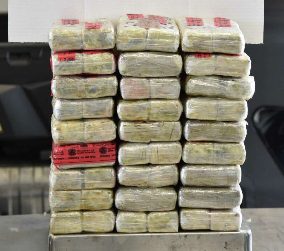 U.S. Customs and Border Protection officers seized cocaine valued at more than $1 million. Authorities said they seized the contraband from a bus. Photo: Courtesy Photo /U.S. Customs And Border Protection