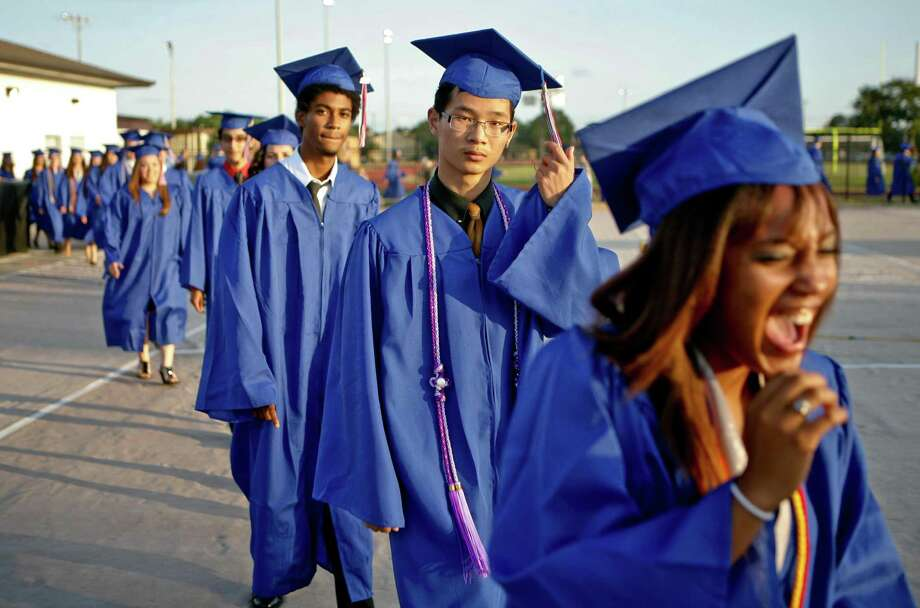 Graduation ceremonies for the Class of 2020 at Clear Creek ISD high schools will include events for the five largest schools on July 26 at NRG Stadium and for Clear Horizons Early College and Clear View high schools the day before in the Clear Falls High School gym. Concern about the novel coronavirus pandemic is prominent in the planning for this year's events, but the district aims to provide seniors the chance to mark their milestone achievement as have previous classes such as this one from Clear Lake High School in 2011. Photo: Daniel Wang, Owner / Daniel Wang / Daniel Wang