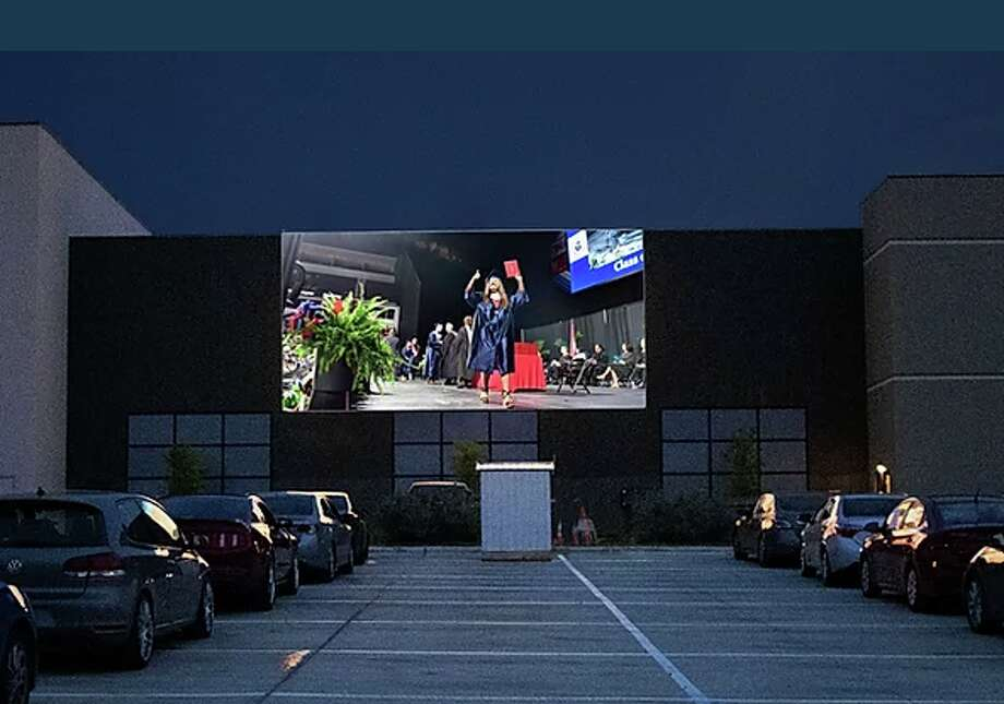 EVO Entertainment is offering local graduating classes to have its ceremony at no cost at its drive-in theatre in Schertz. Photo: EVO Entertainment