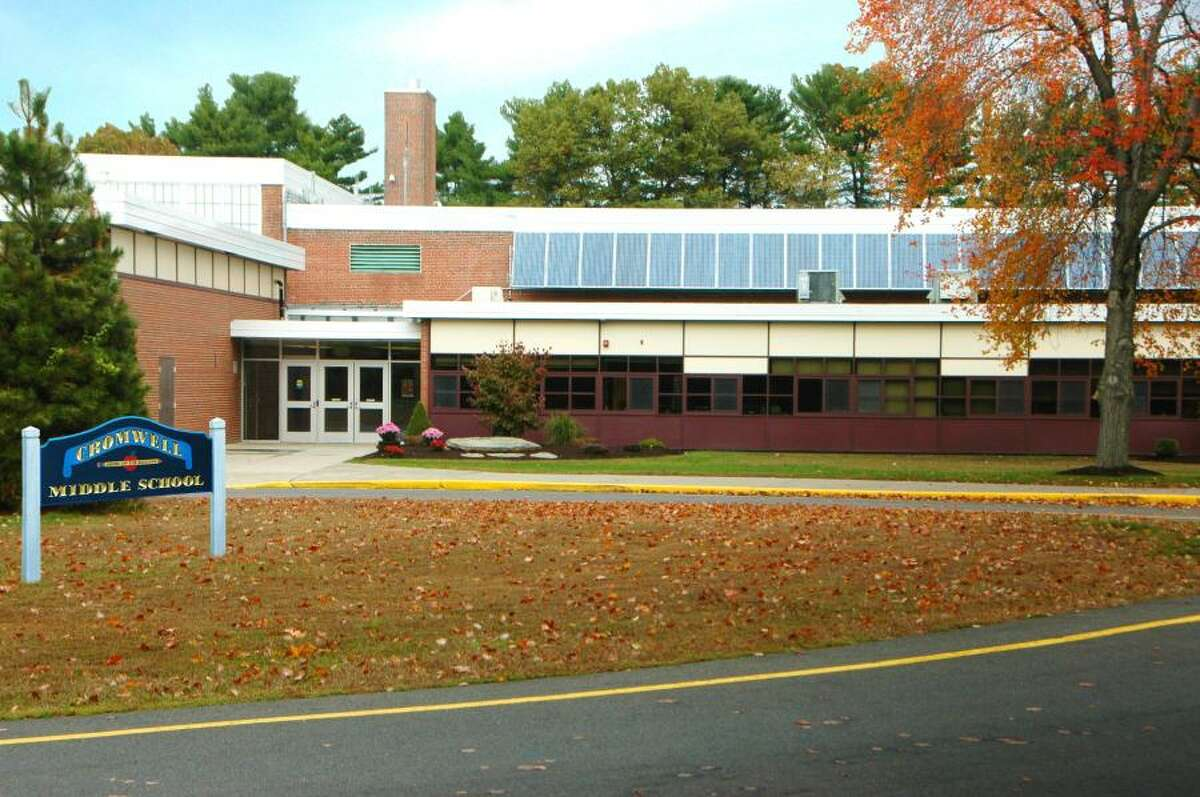 Cromwell Middle School is located at 6 Mann Memorial Drive.