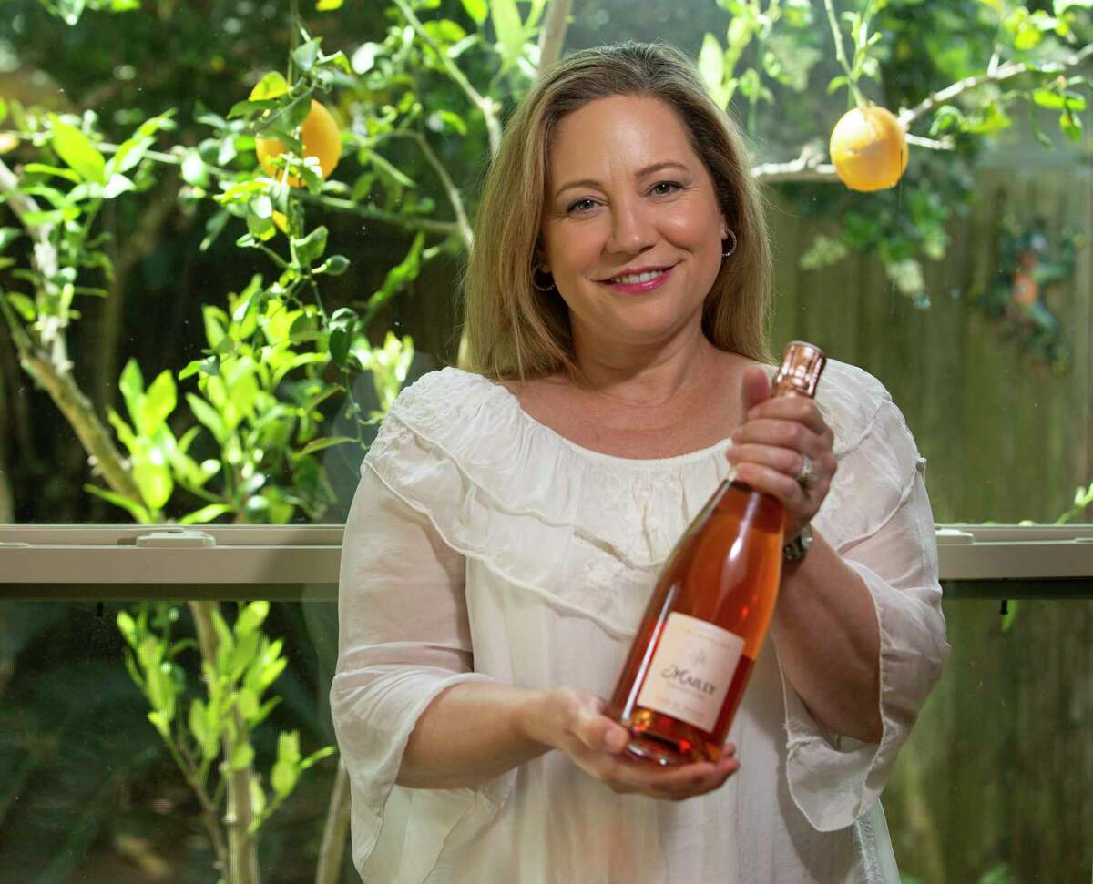 Sandra Crittenden with Mailly Grand Cru Rose de Mailly