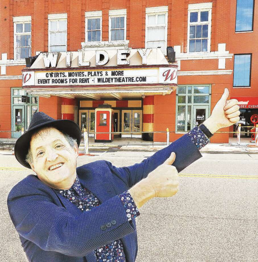 The Wildey Theatre manager Al Canal gives the Edwardsville entertainment destination a thumbs up in downtown Edwardsville. Photo: John Badman | Hearst Illinois