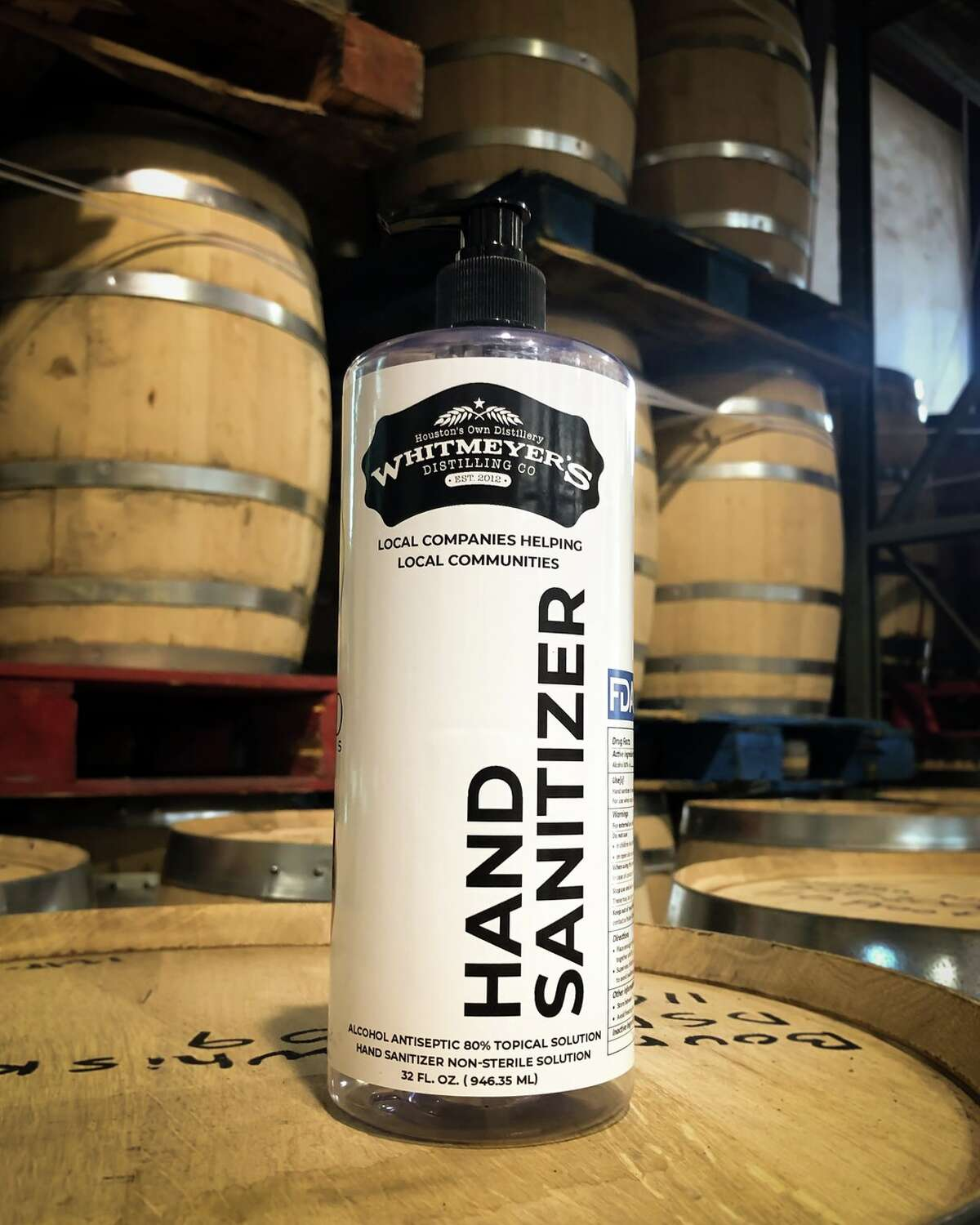 Whitmeyer's Distilling Co. is using 16,496 square feetat 204 S. Live Oak Street in Tomball for the bottling and distribution of hand sanitizer, which began in response to COVID-19.