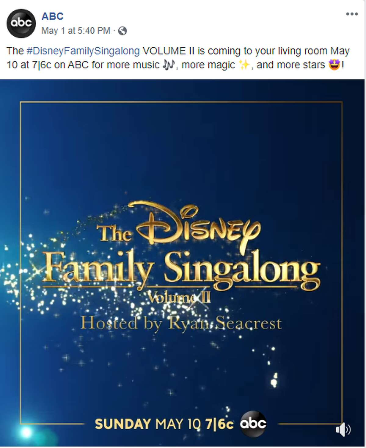 ABC is inviting you to be their guest again for a special Mother's day edition of