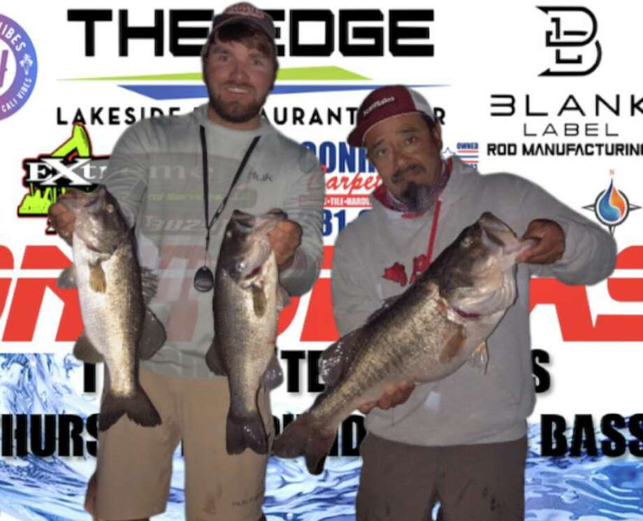 Josh Bensema and Juan Monroy won the CONROEBASS Tuesday night tournament with a stringer weight of 16.05 pounds. Photo: Conroe Bass