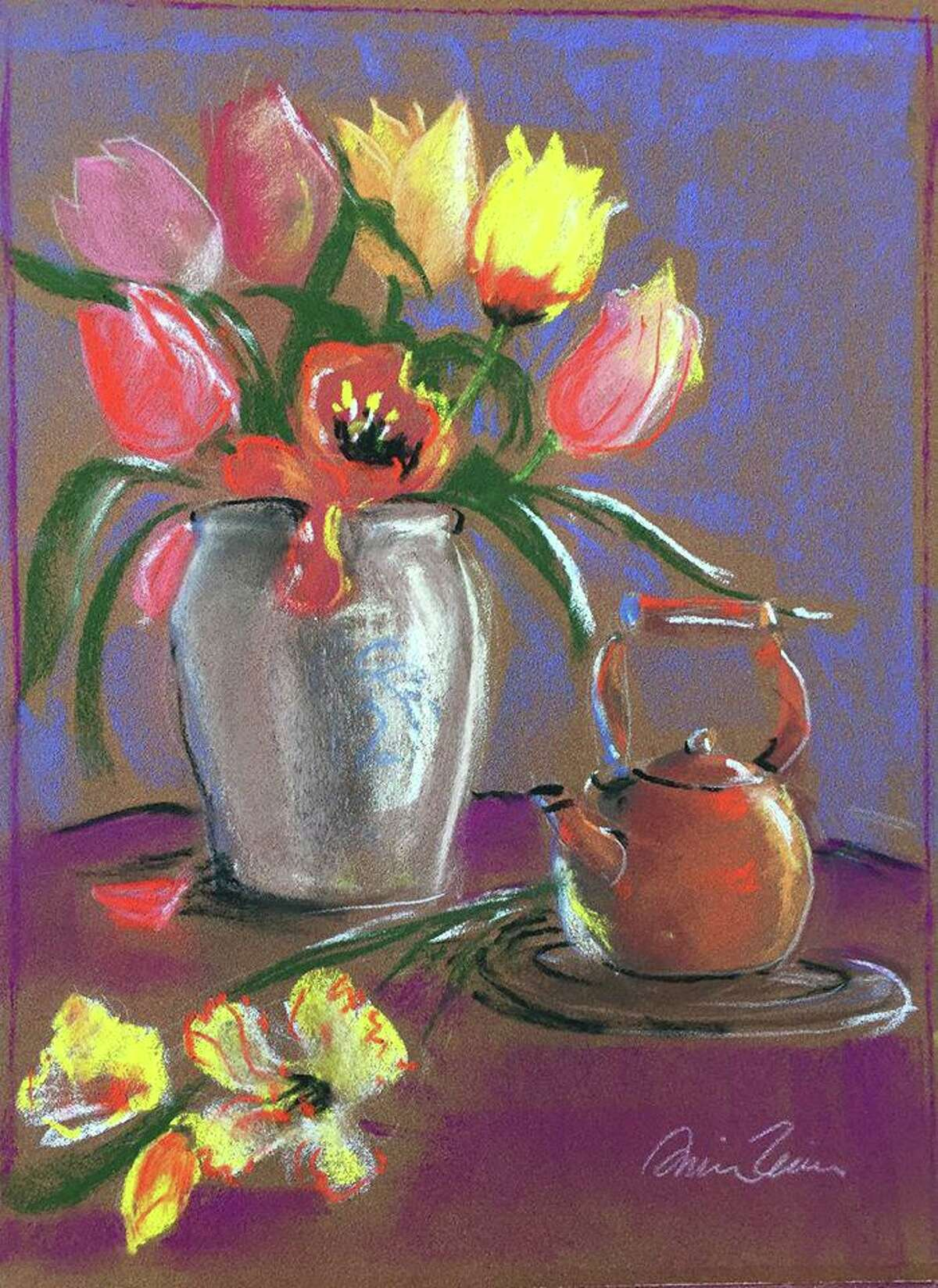 """The 'Sketch 'n Sip' event will feature a local artist guiding participants in creating their own still-life masterpiece, """"Mother's Flowers."""""""