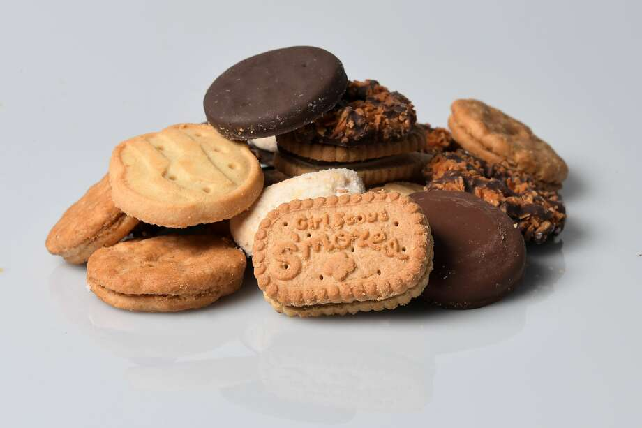 WASHINGTON, DC - JANUARY 11: The seven Girl Scout cookies available are the newest, Girl Scout S'mores, Samoas, Do-si-dos, Tagalongs, Trefoils, Savannah Smiles and top seller Thin Mints photographed January 11, 2017 in Washington, DC. (Photo by Katherine Frey/The Washington Post via Getty Images) Photo: The Washington Post/The Washington Post Via Getty Im / 2017 The Washington Post
