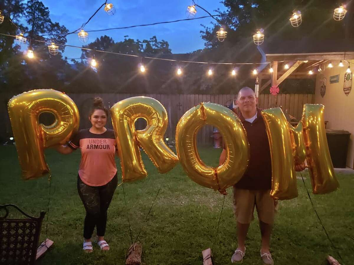 Juliana Peña and her family decorated the family's backyard in honor of her prom weekend, which was scheduled for May 2.