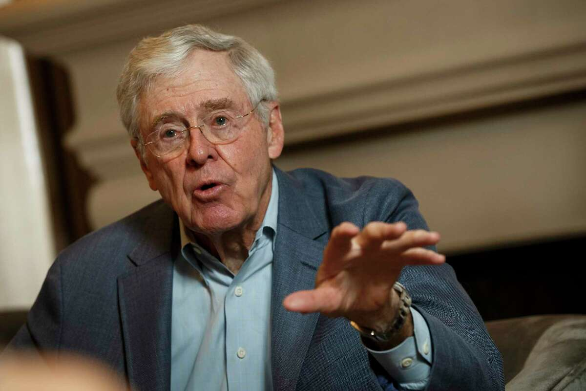 Charles Koch, seen at the Freedom Partners Summit on August 2015, criticized the tone of the GOP presidential primary campaign, citing it as the reason his family has not contributed to any campaigns, including efforts to derail Republican front-runner Donald Trump. MUST CREDIT: Photo by Patrick T. Fallon for The Washington Post.
