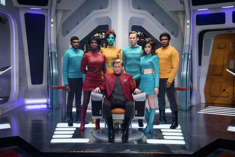 In a season 4 episode, Black Mirror featured an overly invested fan of a Star Trek-like show. Photo: Jonathan Prime/Netflix