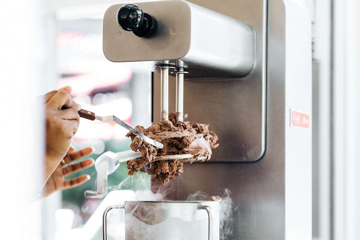 Bay Area company Smitten Ice Cream is churning four flavors, including brown sugar chocolate, using Perfect Day's cow-free base.