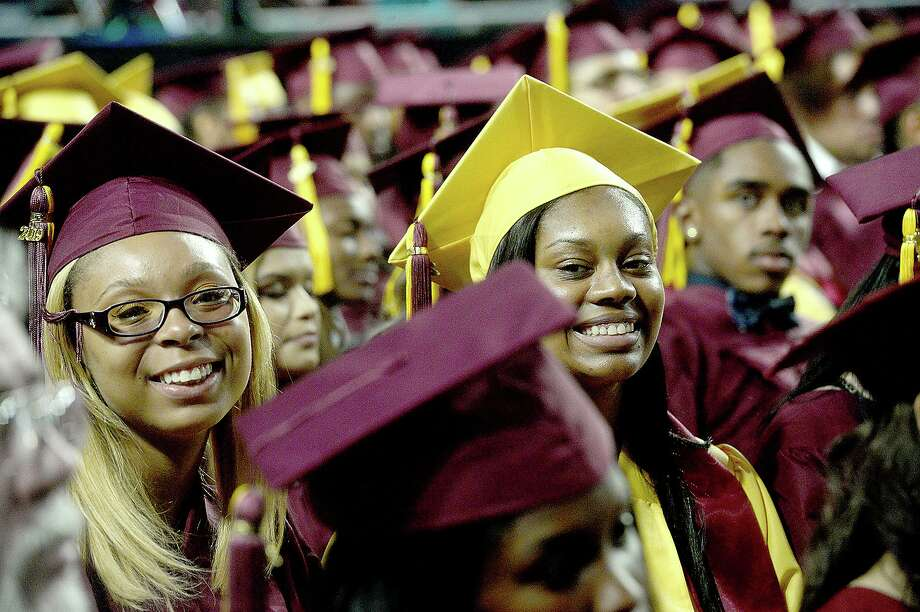 Graduates take in the ceremony during Beaumont United's first commencement ceremony Friday at the Montagne Center.  Photo taken Friday, May 24, 2019 Kim Brent/The Enterprise Photo: Kim Brent / The Enterprise / BEN