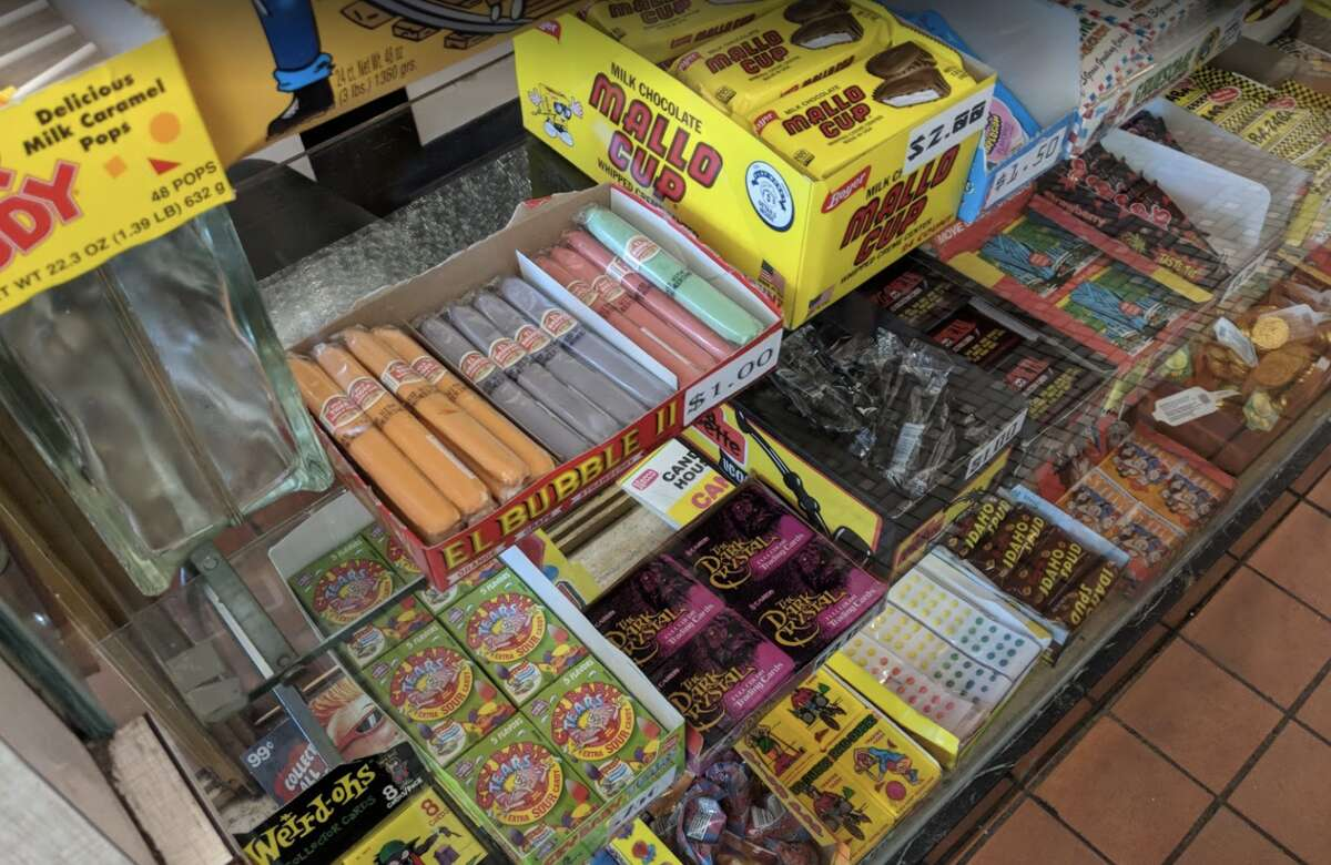 Retro candies are sold at St. Francis Fountain.