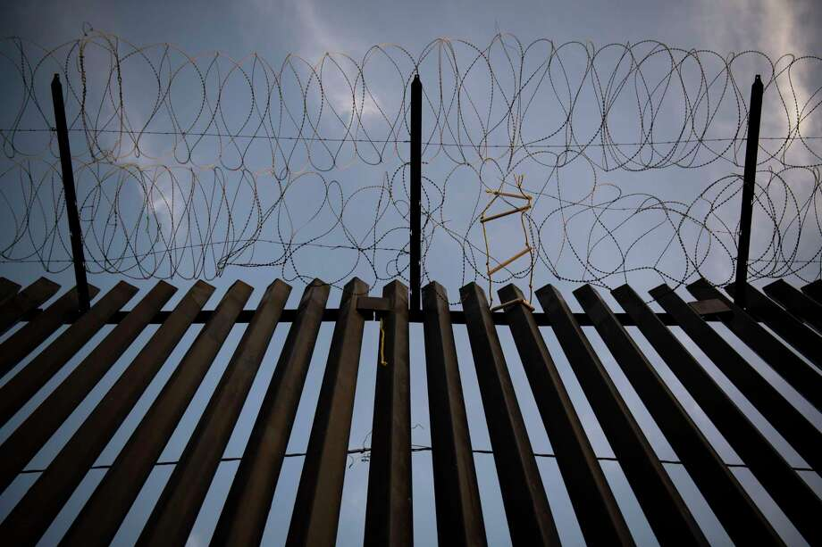 A section of President Donald Trump's border wall that has been painted black near downtown Calexico, which sits on the border between the United States and Mexico, shown in August 2019. Photo: Washington Post Photo By Carolyn Van Houten / The Washington Post