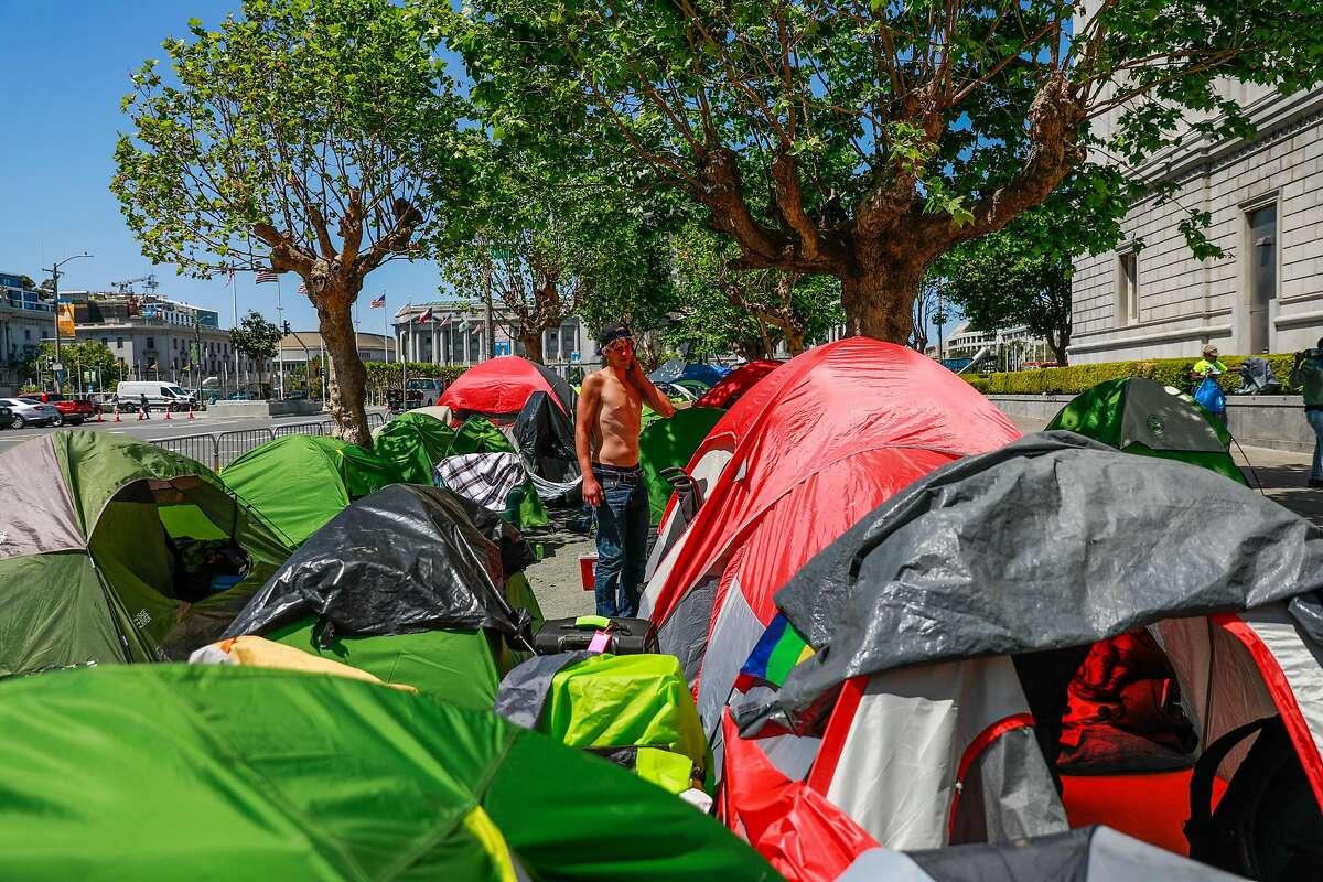 Data shows the number of tents lining San Francisco sidewalks dropped 65% from April 2020 to April 2021, but many of the city's resources are only temporary because of the pandemic.