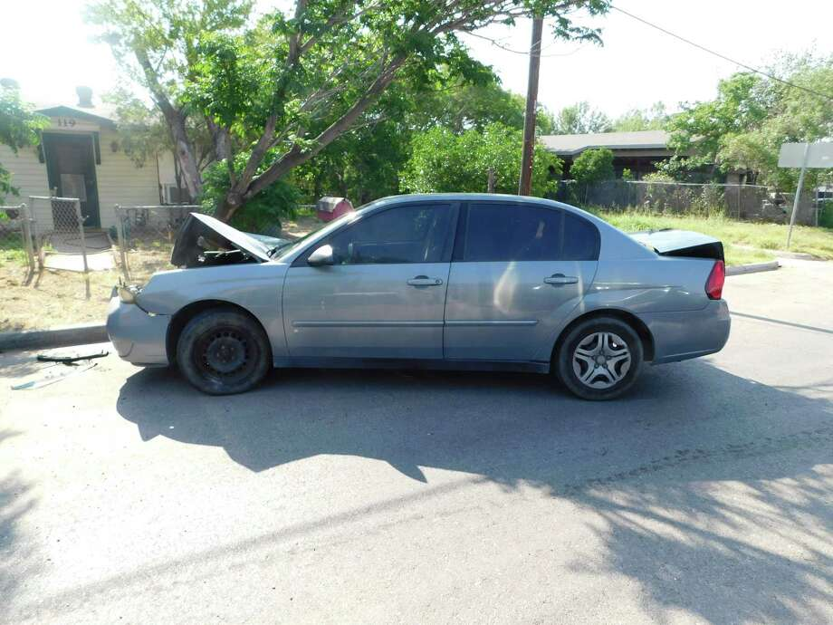 Texas Department of Public Safety troopers said the driver of this vehicle led them on a chase in south Laredo. Authorities said further investigation revealed that the driver was transporting illegal immigrants. Photo: Courtesy Photo /Texas Department Of Public Safety