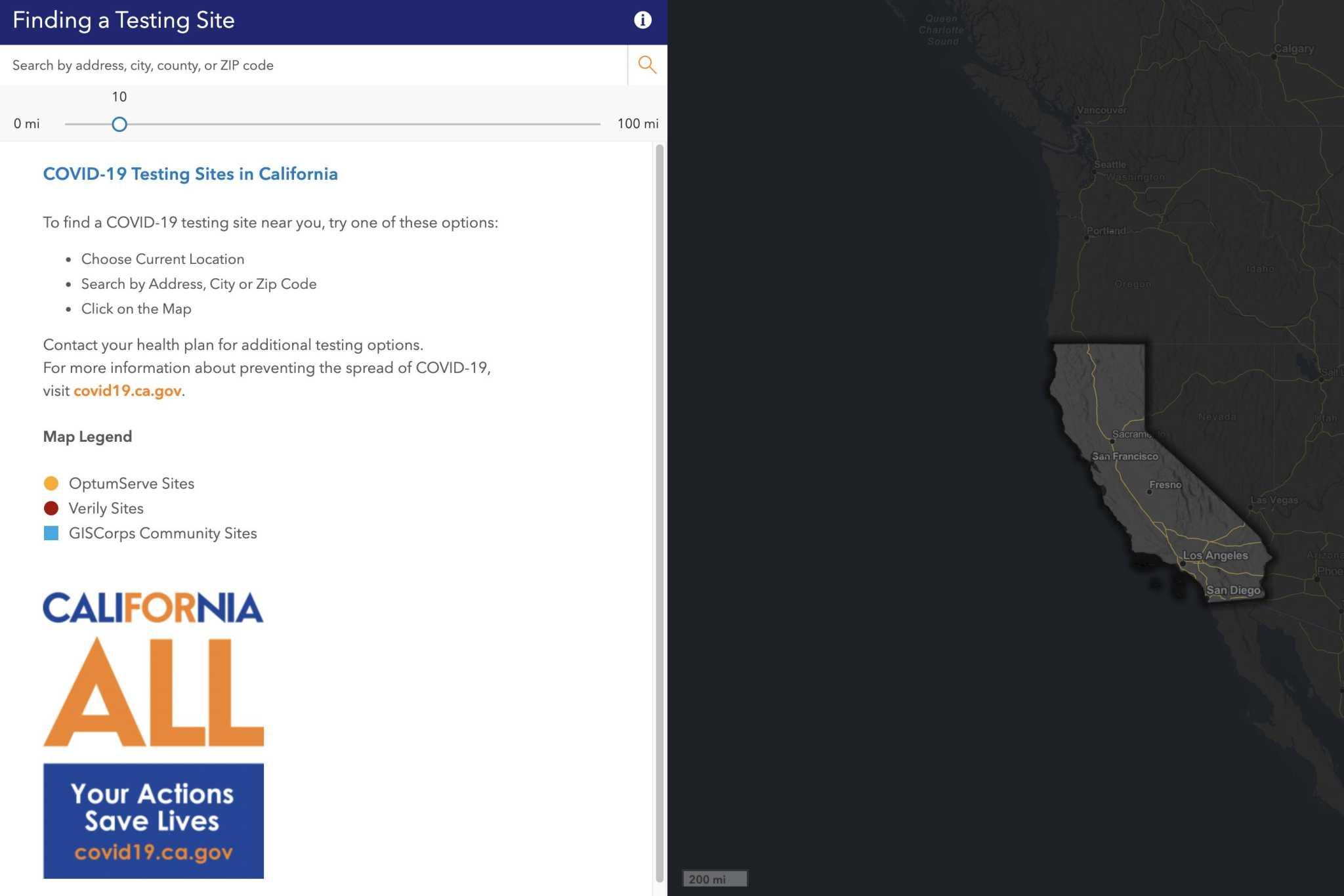 New State Website Lets Californians Enter Zip Code Find A Coronavirus Test Near Them Sfchronicle Com
