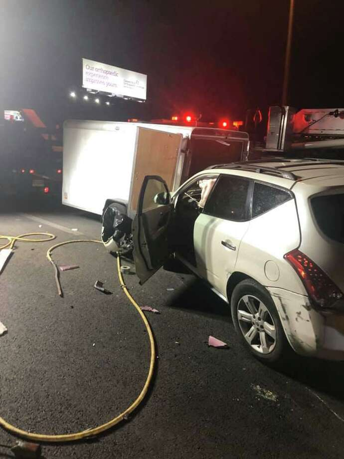 """Minutes before 10 p.m. May 5, 2020, troopers from the Connecticut State Police Troop G barracks responded to a reported crash """"within the highway construction project"""" just past Exit 43 in West Haven, Conn., state police said Wednesday. Photo: Contributed Photo / Connecticut State Police"""