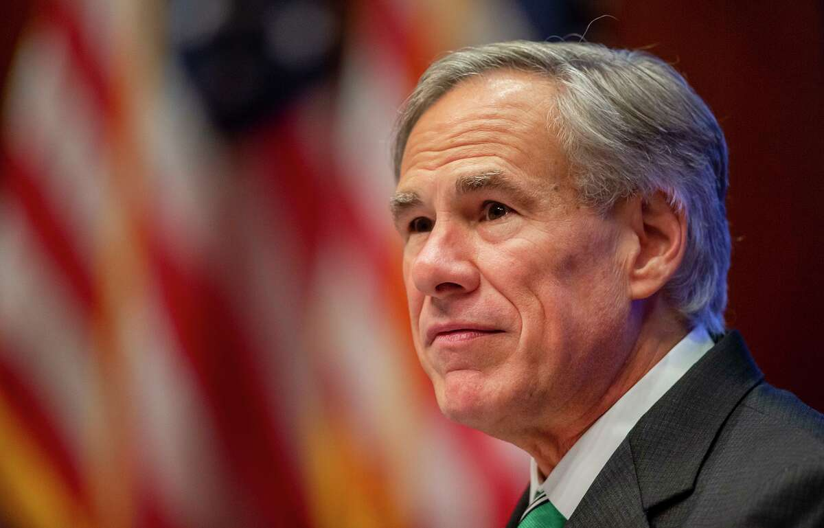 Texas Gov. Greg Abbott announced his plan to reopen the state's economy amid the coronavirus pandemic, Tuesday, May 5, 2020, in Austin. (Ricardo B. Brazziell/Austin American-Statesman via AP)