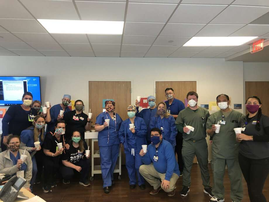 Midland Memorial Hospital employees who found themselves without work after elective surgeries were canceled began sewing masks to address a shortage of personal protective equipment. During the five weeks their departments were shut down, they sewed more than 10,000 masks for their colleagues and patients in the hospital. Photo: Courtesy Photo