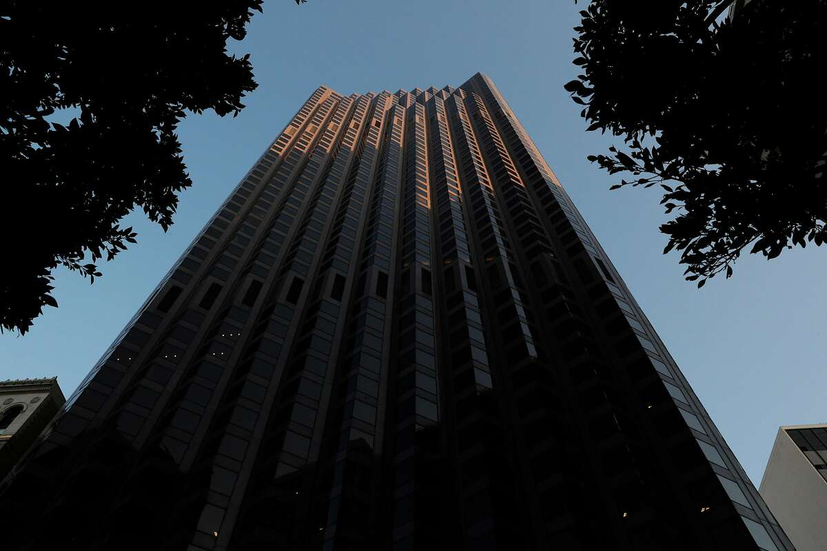 The The exterior of 555 California Street in San Francisco, Calif., on Wednesday, May 6, 2020. Co-working giant Regus has walked away from a 15-year lease worth $90 million at 345 Montgomery St., the former bank of America banking hall co-owned by Vornado and the Trump Organization which also owns 555 California Street.