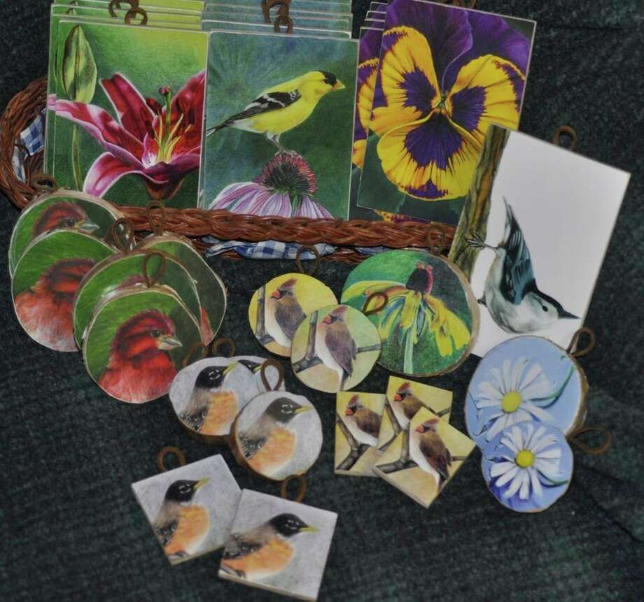 """This gallery of 2019 Pencil Plaques, created by Baldwin resident, Elizabeth Heckler-Cambridge, is an example of the works that will be available at the new Red Curiosities, LLC. art gallery and studio she will be opening in downtown Baldwin once the """"Stay Home Stay Safe"""" order has been lifted. (Submitted photo)"""