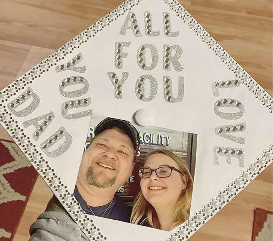 Senior Sydney Brainerd offers thanks to her father.