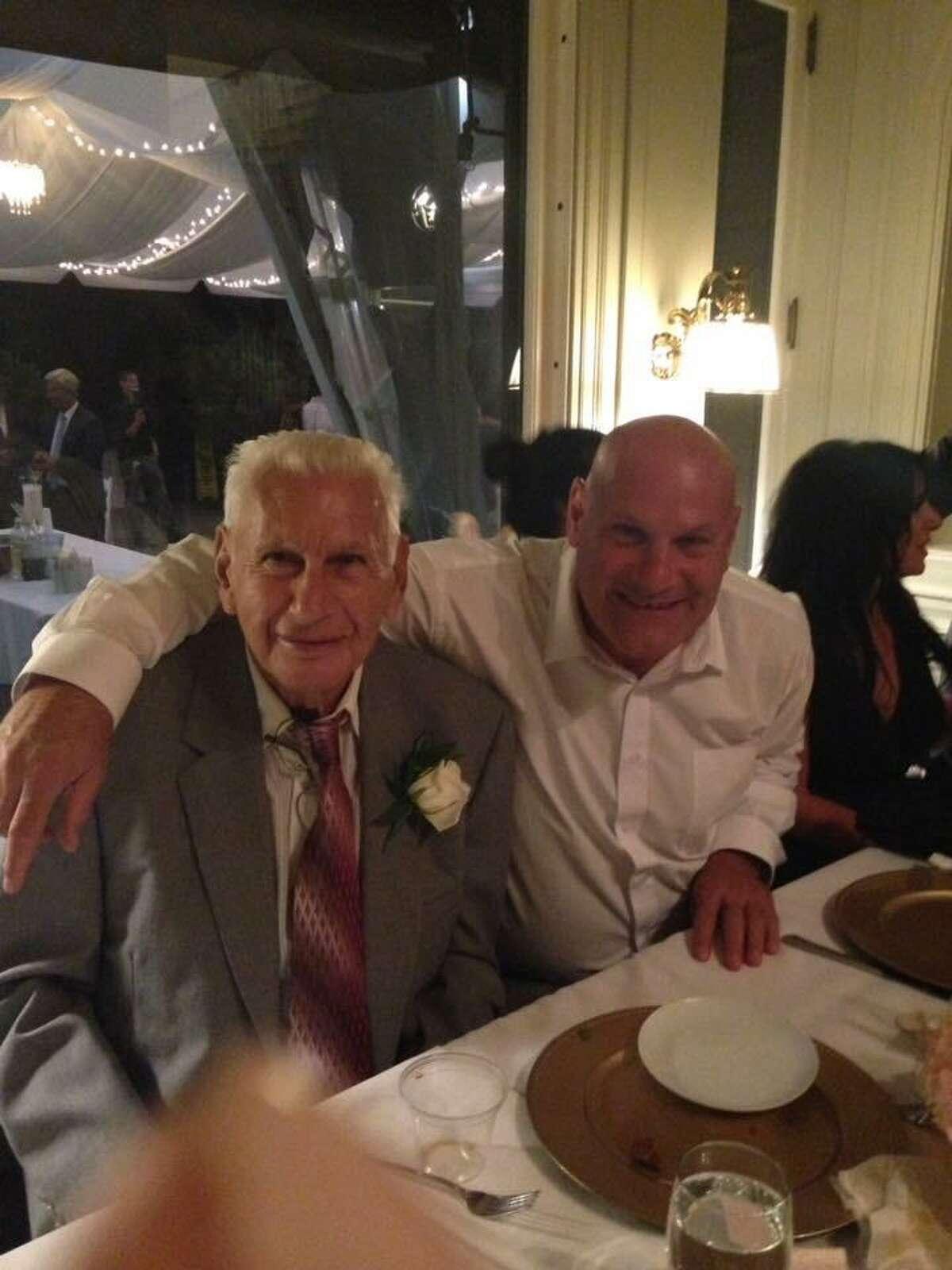 East Haven Mayor Joe Carfora, right, with his father, Al Carfora Jr.