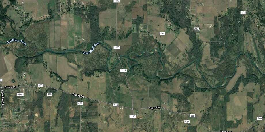 The Guadalupe County Sheriff's Office is searching for a teenager who went missing while swimming in the Guadalupe River on Wednesday. The map shows the approximate area where the teenager went missing. Photo: Google Maps