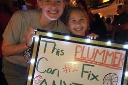 Professional volleyball player Kathryn Plummer and Caroline Curry of Stamford at the NCAA Final Four Championship in 2019. Plummer, who played for Stanford Volleyball and Team USA, will visit electronically with Caroline's club, Northeast Volleyball Club of Wilton, on May 9, 2020.