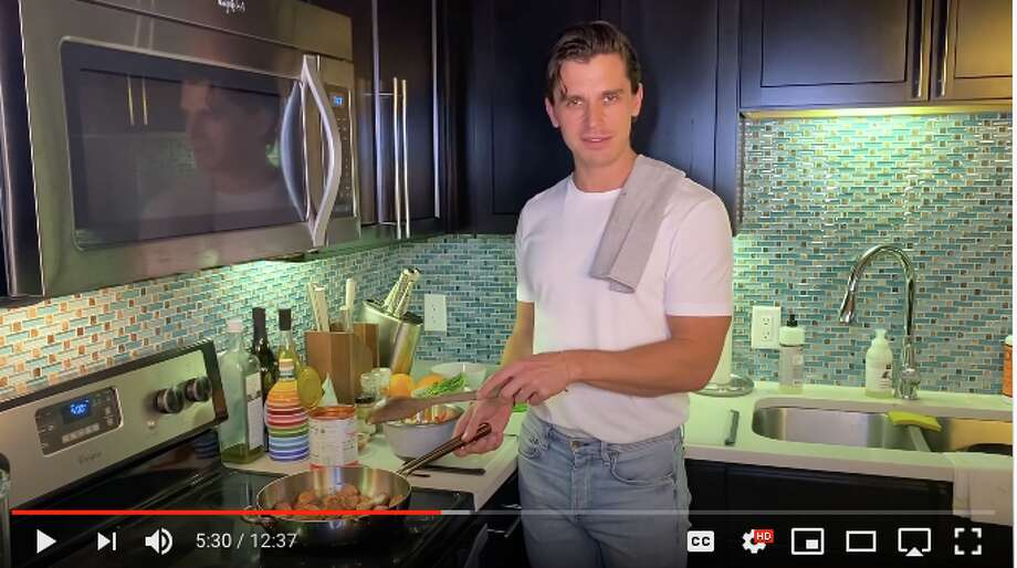 """Food and wine expert and """"Queer Eye"""" star Antoni Porowski is filming a new Netflix quarantine cooking show from his apartment in Austin. Photo: YouTube: Netflix"""