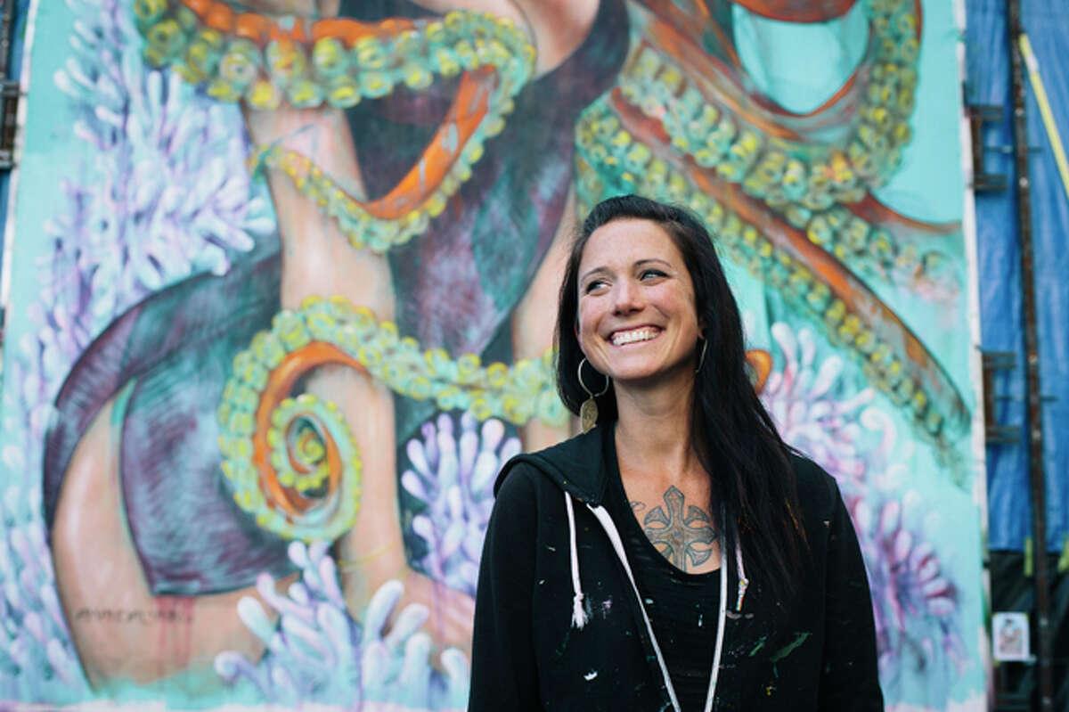 Amandalynn, muralist and festival art director