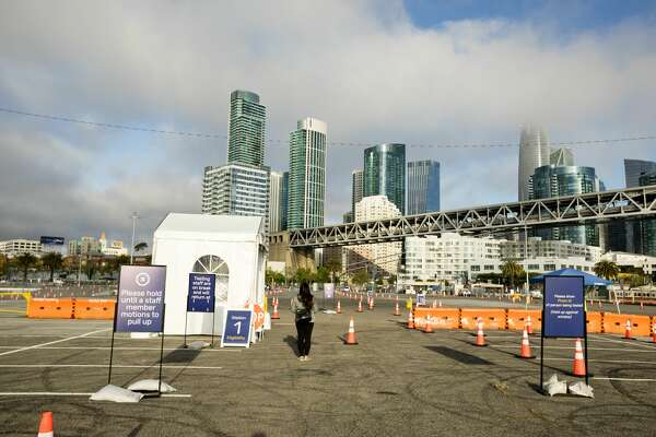 The city of San Francisco opened a new COVID-19 testing center on Pier 30/32 in San Francisco, California on May 5, 2020.